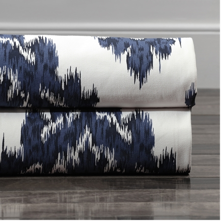 Ikat Blue Printed Cotton Swatch