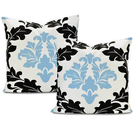 Deauville  Printed Cotton Cushion Cover (Pair)
