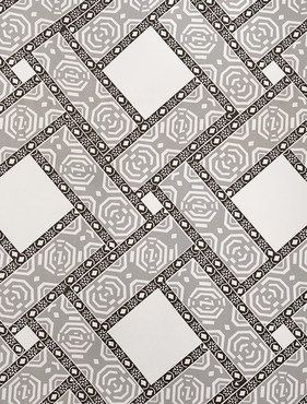 Pavers Gray Printed Cotton Twill Swatch