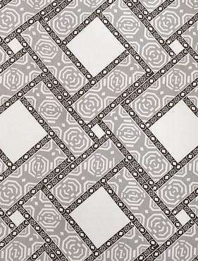 Pavers Gray Printed Cotton Twill Swatch