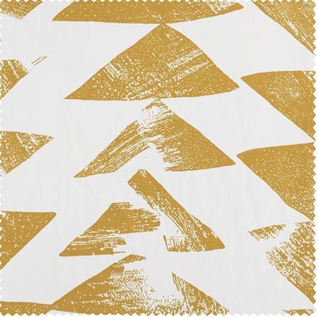 Triad Gold Printed Cotton Twill Swatch