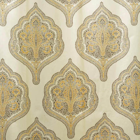 Arabesque Tan Printed Cotton Twill Swatch