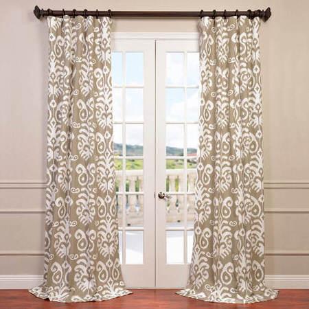 Sri Lanka Dove Grey Printed Cotton Twill Curtain