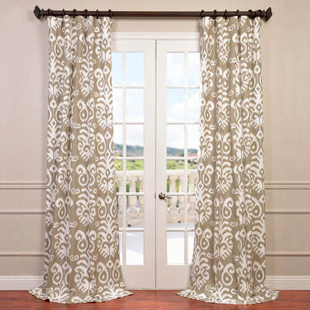 Sri Lanka Dove Grey Printed Cotton Twill Curtain