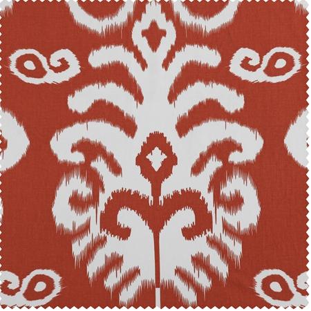 Sri Lanka Rust Printed Cotton Twill Swatch