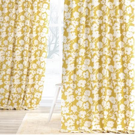 Van Gogh Marigold Printed Cotton Twill Curtain