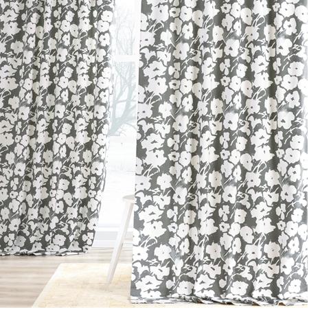 Van Gogh Grey Printed Cotton Twill Curtain