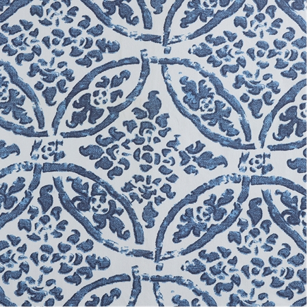 Catalina Blue Printed Cotton Twill Swatch