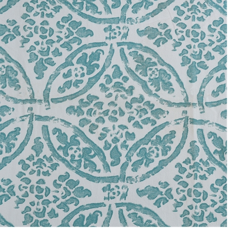 Catalina Aqua Printed Cotton Twill Swatch