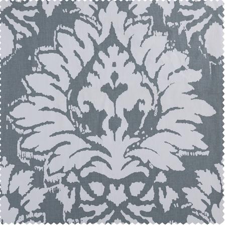 Lacuna Grey Printed Cotton Twill Swatch