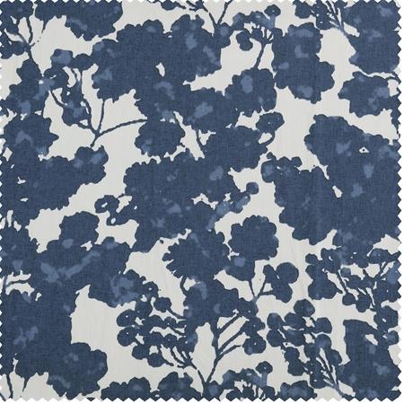 Fleur Blue Printed Cotton Twill Swatch