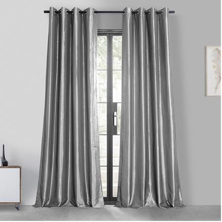 Platinum Grommet Blackout Faux Silk Taffeta Curtain