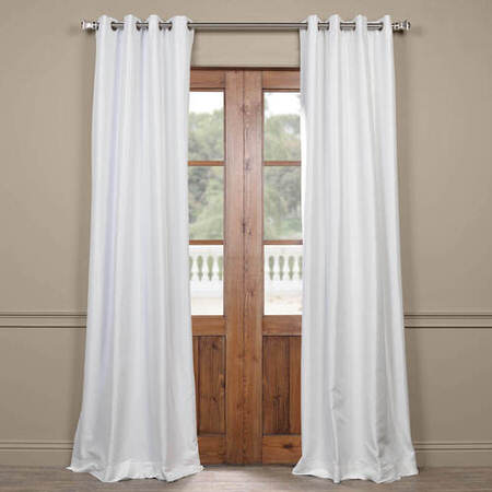 Eggshell Grommet Blackout Faux Silk Taffeta Curtain