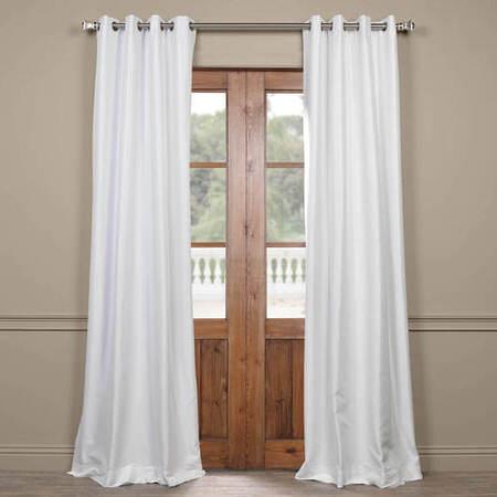 Eggshell Grommet Blackout Faux Silk Taffeta Curtain