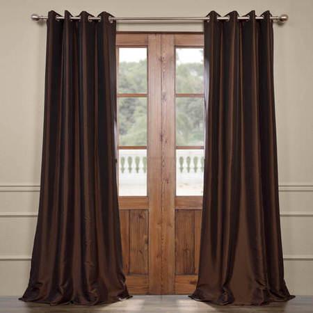 Java Grommet Blackout Faux Silk Taffeta Curtain