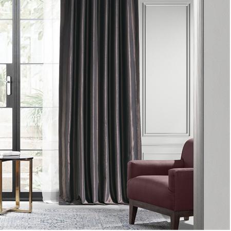 Java Blackout Faux Silk Taffeta Curtain