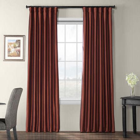 Paprika Blackout Faux Silk Taffeta Curtain