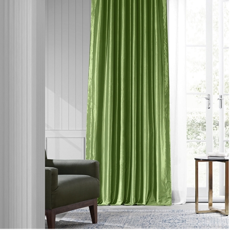 Fern Faux Silk Taffeta Curtain