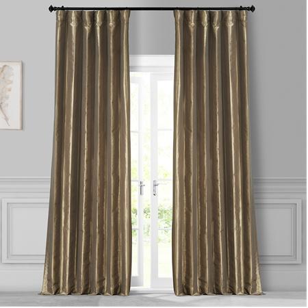 Gold Nugget Faux Silk Taffeta Curtain