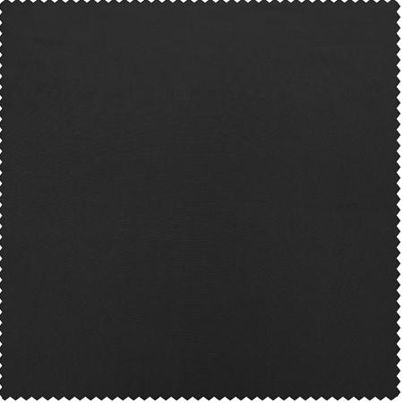 Jet Black Faux Silk Taffeta Swatch