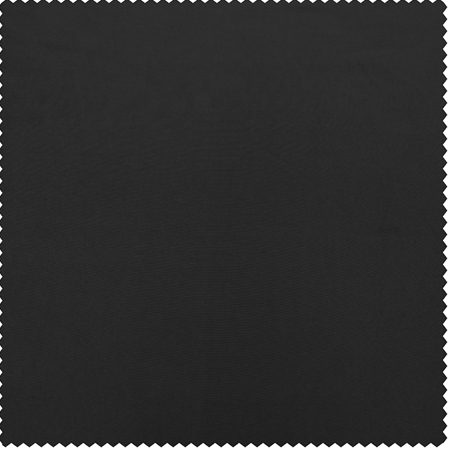 Jet Black Faux Silk Taffeta Swatch