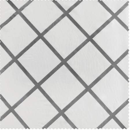 Pavillion Pearl Flocked Faux Silk Swatch