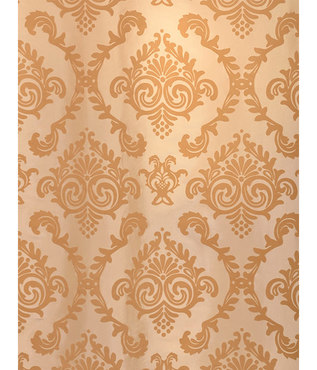 Parisian Tan Flocked Faux Silk Swatch