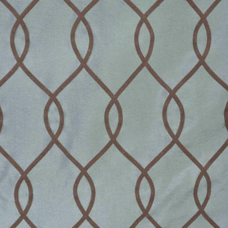 Meridian Slate Blue Flocked Faux Silk Taffeta Swatch