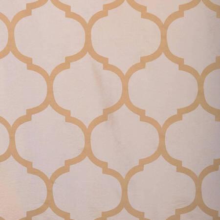 Marakesh Gold Flocked Faux Silk Taffeta Swatch