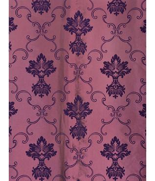 Fiori Dahlia Flocked Faux Silk Swatch