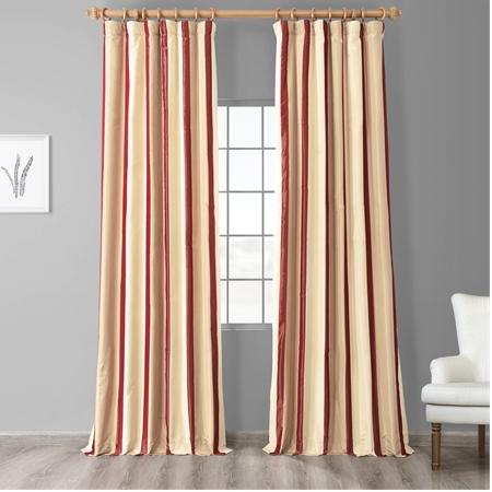 Manchester Faux Silk Taffeta Stripe Curtain