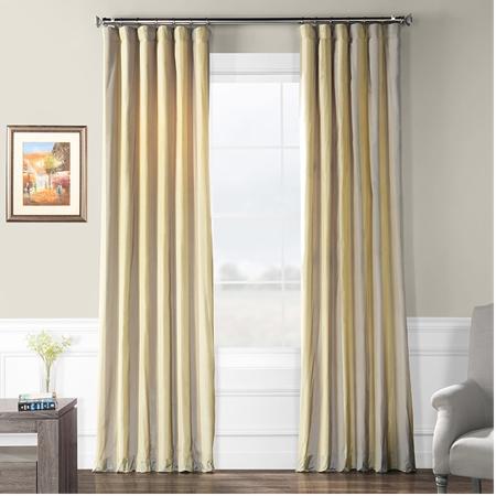 Riviera Faux Silk Taffeta Stripe Curtain