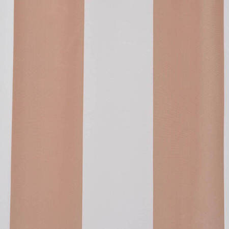 Ultra Lux Crème Nougat Blackout Faux Silk Taffeta Stripe Swatch
