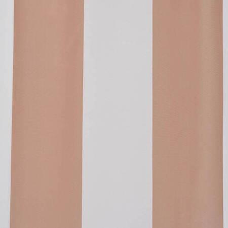 Ultra Lux Crème Nougat Blackout Faux Silk Taffeta Stripe Swatch