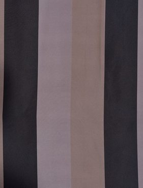 Ultra Lux Black Mink Multi Blackout Faux Silk Taffeta Stripe Swatch
