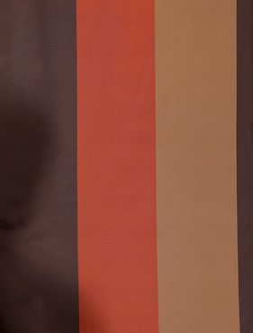 Ultra Lux Chocolate Sierra Multi Blackout Faux Silk Taffeta Stripe Swatch