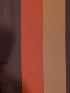 Ultra Lux Chocolate Sierra Multi Blackout Faux Silk Taffeta Stripe Swatch