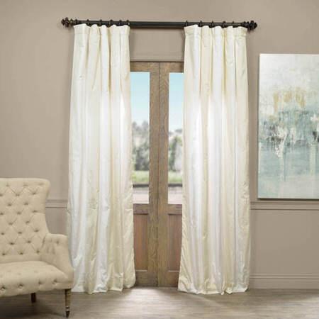 Iceland Faux Silk Taffeta Stripe Curtain