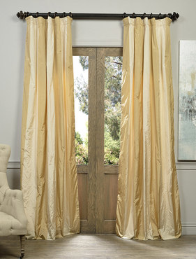 Vienna Faux Silk Taffeta Stripe Curtain