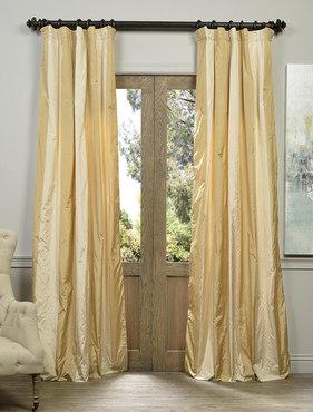 Vienna Faux Silk Taffeta Stripe Curtain