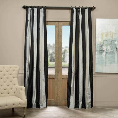 Berlin Faux Silk Taffeta Stripe Curtain