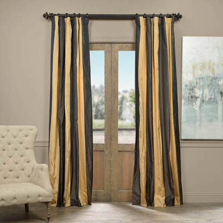 Madrid Faux Silk Taffeta Stripe Curtain