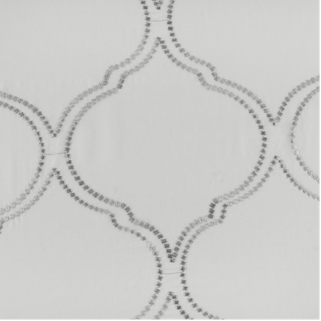 Florentina Silver Embroidered Sheer Swatch