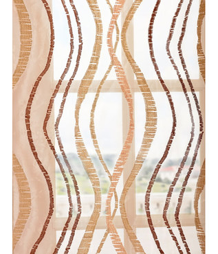 Alegra Gold Embroidered Sheer Swatch