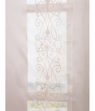Juliette Ivory Embroidered Sheer Swatch
