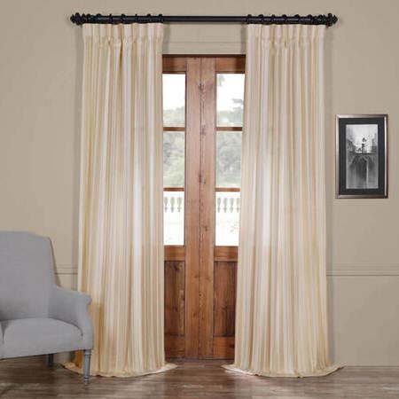 Cayman Natural Striped Linen Sheer Curtain