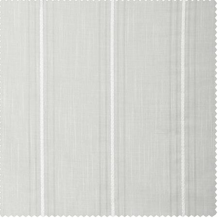 Aruba White Striped Linen Sheer Swatch