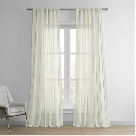 Aruba Gold Striped Linen Sheer Curtain