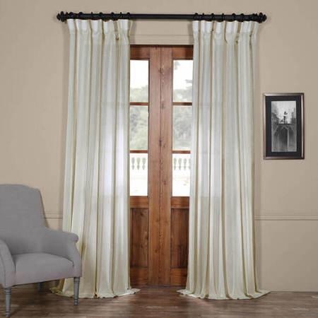 Antigua Gold Striped Linen Sheer Curtain