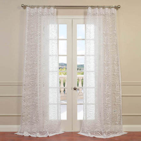 Zara White Designer Sheer Curtain